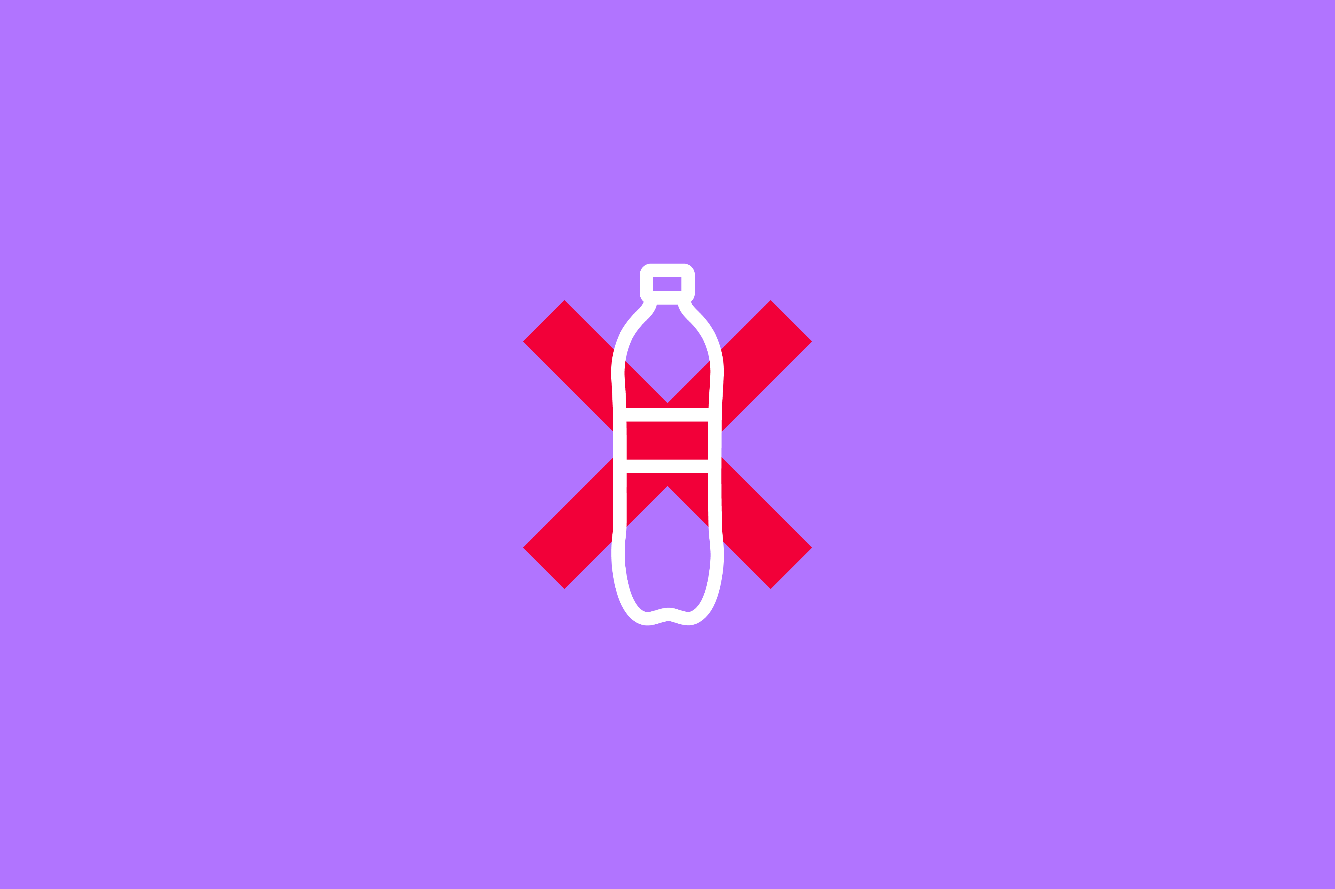 grpahic of a plastic bottle with a red cross through it