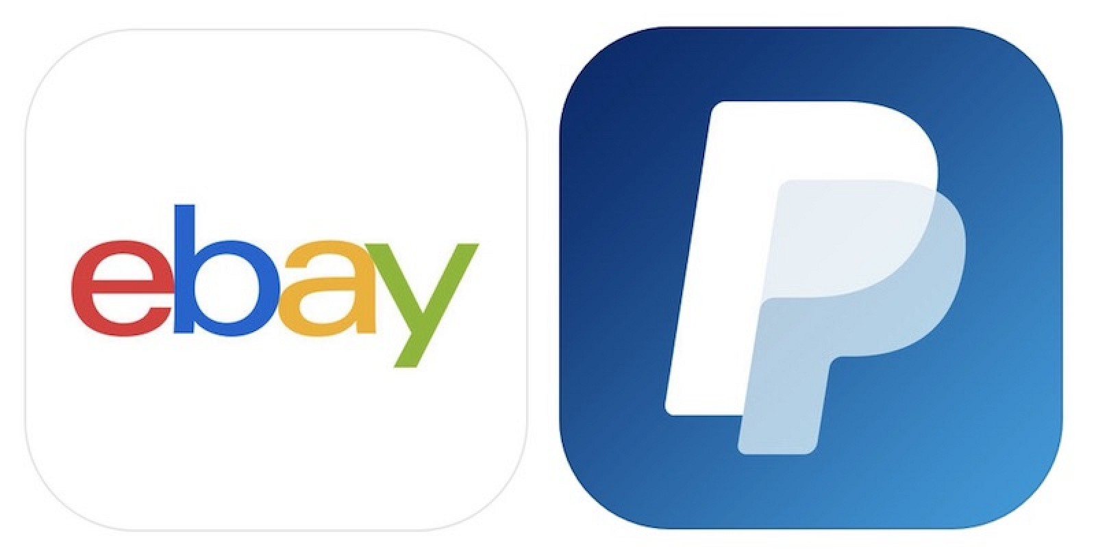 Ebay and Paypal app tiles