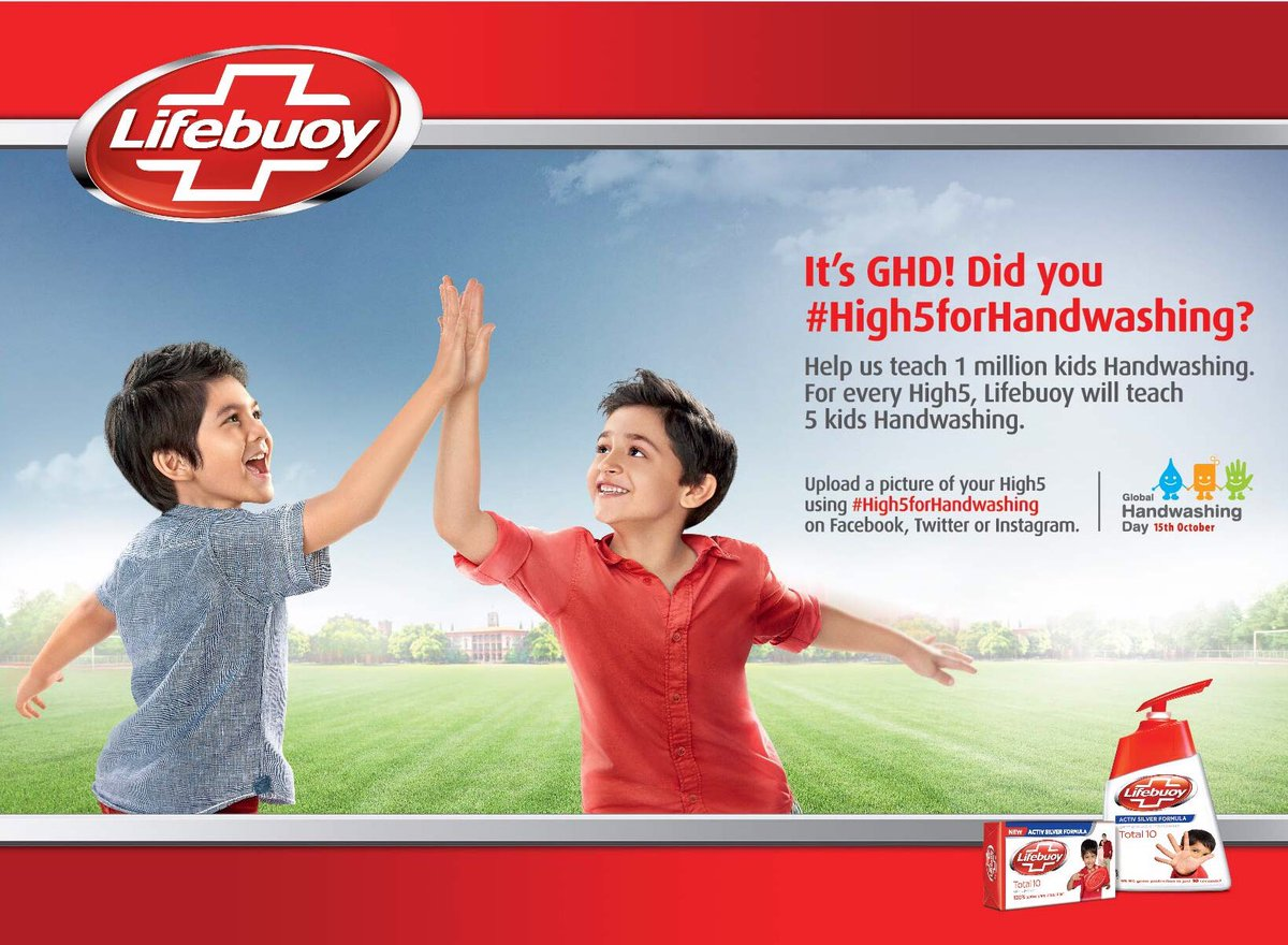2017 Lifebuoy global handwashing day social media advert